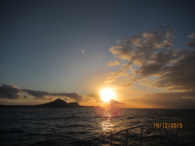 Watching the sun go down from a Fishing Vessel